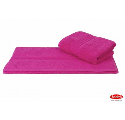 Полотенце Hobby Home Collection Rainbow (темно-розовое)
