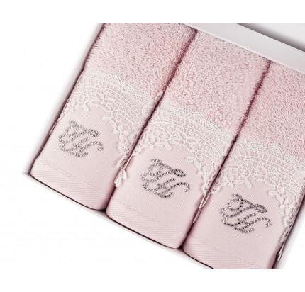 Набор салфеток Tivolyo Juliet (3 предмета, розовый) 30x50