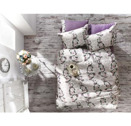 Постельное белье Zebra Casa Ida lilac евро