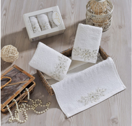 Набор салфеток Irya Cool (молочный) 30x50 (3 шт.)