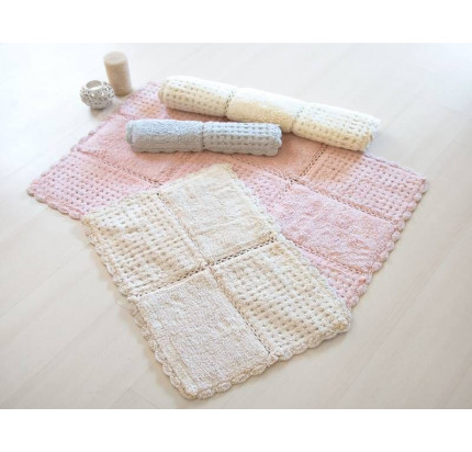 Набор ковриков Irya Sandy Silver серебристый (60x100+45x65)