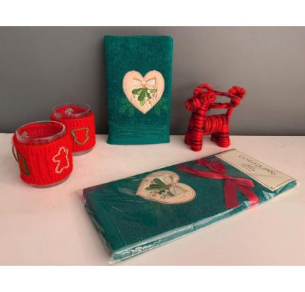 Новогоднее полотенце-салфетка La Villa Kalp Desenli (зеленый)