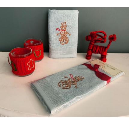 Новогоднее полотенце-салфетка La Villa Kardanadam (голубой)
