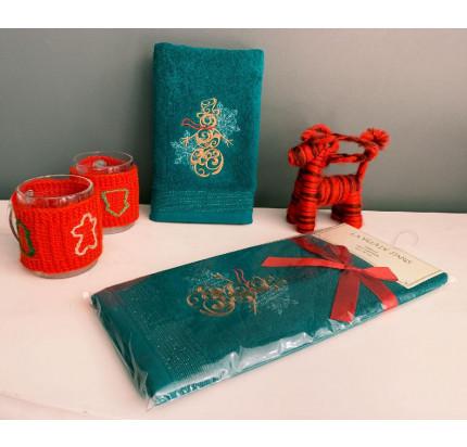 Новогоднее полотенце-салфетка La Villa Kardanadam (зеленый)