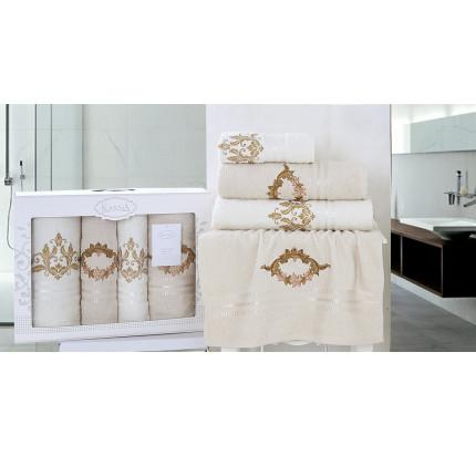 Набор полотенец Karna Karen (бежевый, 4 предмета)