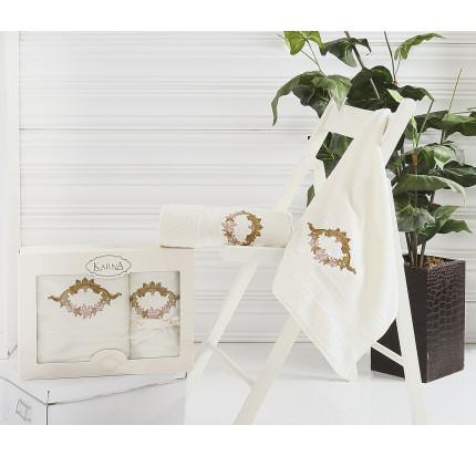 Набор полотенец Karna Karen (кремовый, 2 предмета)