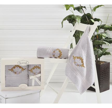 Набор полотенец Karna Karen (серый, 2 предмета)