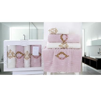 Набор полотенец Karna Karen (светло-сиреневый, 4 предмета)