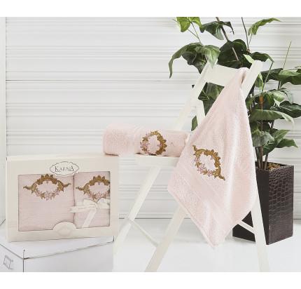 Набор полотенец Karna Karen (светло-абрикосовый, 2 предмета)