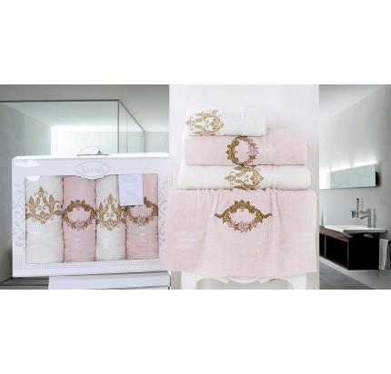Набор полотенец Karna Karen (светло-абрикосовый, 4 предмета)