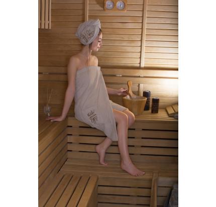 Набор для сауны женский Karna Arven (молочный)