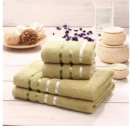 Набор полотенец Karna Bale (зеленый, 4 предмета)
