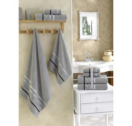 Набор полотенец Karna Bale (серый, 4 предмета)