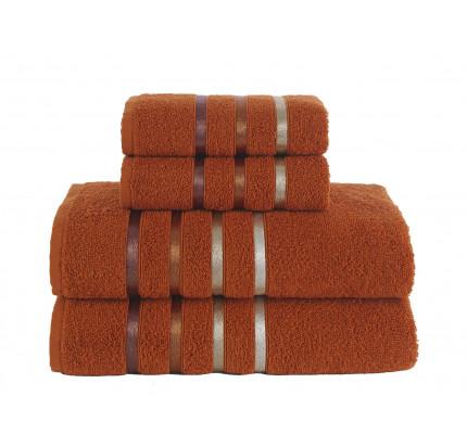 Набор полотенец Karna Bale (кирпичный, 4 предмета)