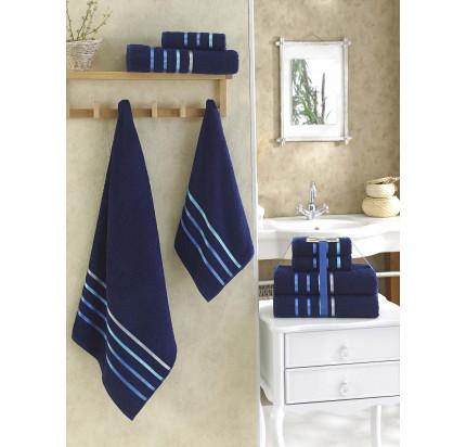 Набор полотенец Karna Bale (синий, 4 предмета)