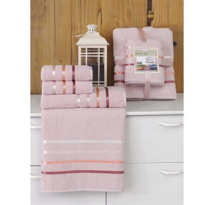 Набор полотенец Karna Bale (светло-розовый, 4 предмета)