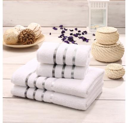 Набор полотенец Karna Bale (белый, 4 предмета)