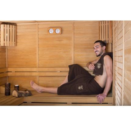 Набор для сауны мужской Karna Barel (коричневый)