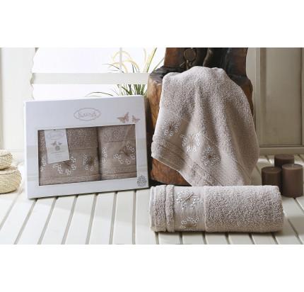 Набор полотенец Karna Bianca (бежевый, 2 предмета)