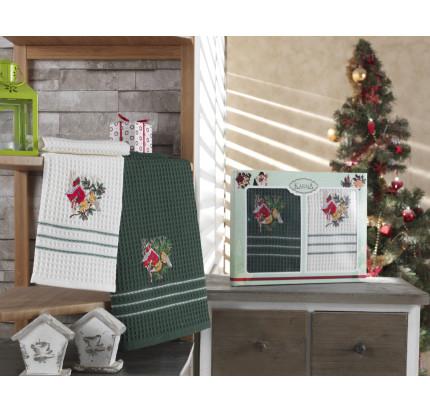 Набор салфеток Karna Christmas V8 (2 предмета) 40x60
