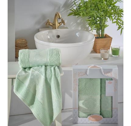 Набор полотенец Karna Dora (зеленый, 2 предмета)