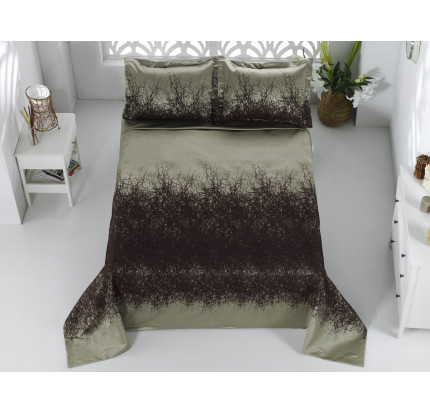 Покрывало Karna Florina (коричневое) 260x260