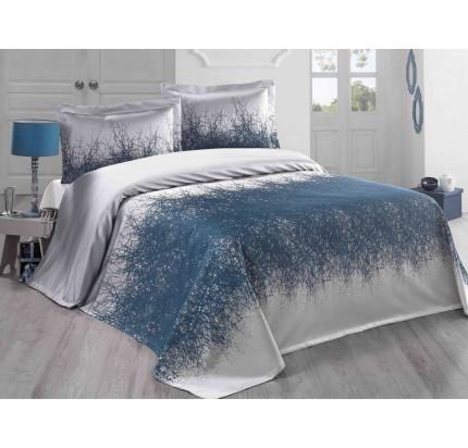 Покрывало Karna Florina (синий-саксен) 260x260