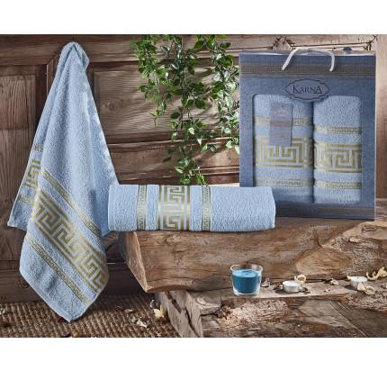 Набор полотенец Karna Iteka (светло-голубой, 2 предмета)