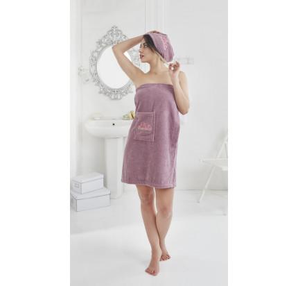 Набор для сауны женский Karna Pera (фиолетовый)