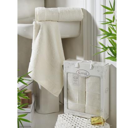 Набор полотенец Karna Pandora (кремовый, 2 предмета)
