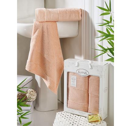 Набор полотенец Karna Pandora (светло-абрикосовый, 2 предмета)