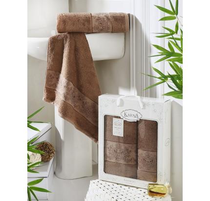 Набор полотенец Karna Pandora (коричневый, 2 предмета)