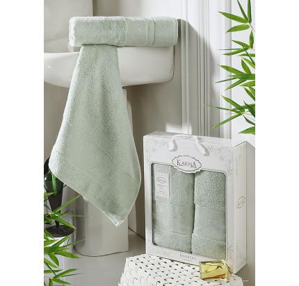 Набор полотенец Karna Pandora (светло-зеленый, 2 предмета)