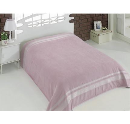 Махровая простынь Karna Rebeka (грязно-розовая)