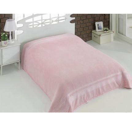 Махровая простынь Karna Rebeka (светло-розовая)