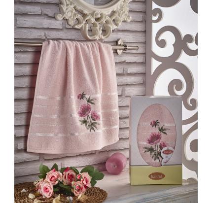 Полотенце в коробке Karna Rozenya (розовое, 50x90)