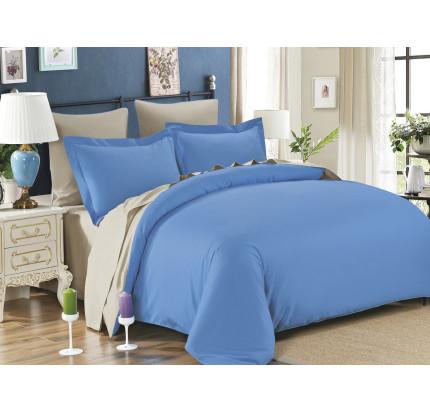 Постельное белье Karna Sanford (голубой-бежевый)