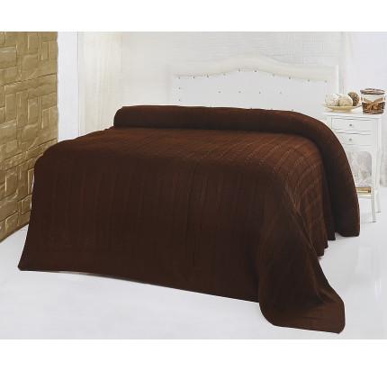 Вязаный плед Karna Silvia (коричневый)