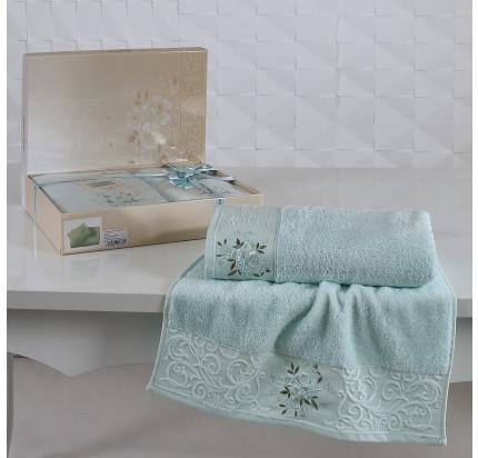 Набор полотенец Karna Viola (светло-зеленый, 2 предмета)
