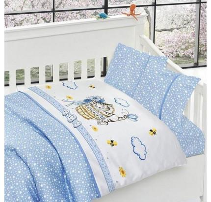 Детское постельное белье First Choice Kitty mavi