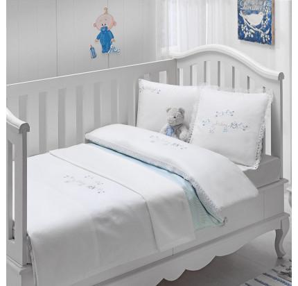 Детское белье в кроватку Tivolyo Home Couple (голубой)