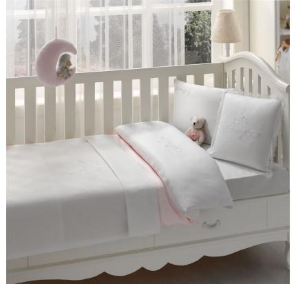 Набор в кроватку с покрывалом Tivolyo Couple (розовое)