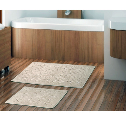 Набор ковриков Karven Loya бежевый (50x60+60x100)