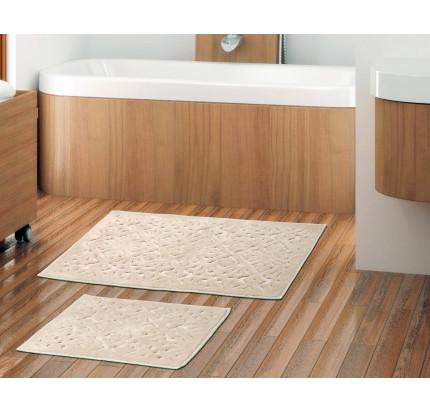 Набор ковриков Karven Loya слоновая кость (50x60+60x100)
