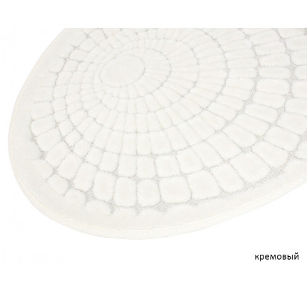 Набор ковриков Karven Oval Girdap кремовый (50x60+60x100)