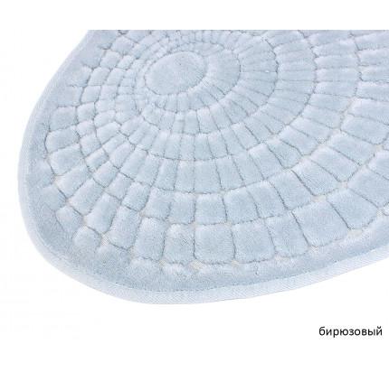 Набор ковриков Karven Oval Girdap бирюзовый (50x60+60x100)