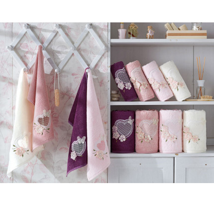 Набор полотенец La Villa Aimer (фиолетовый) 3 предмета