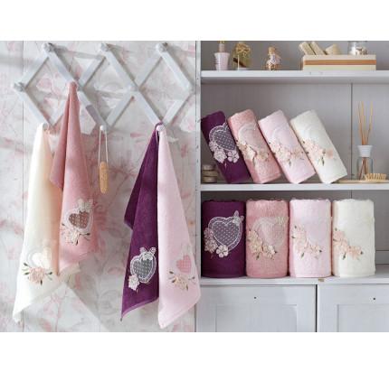 Набор полотенец La Villa Aimer (розовый) 3 предмета
