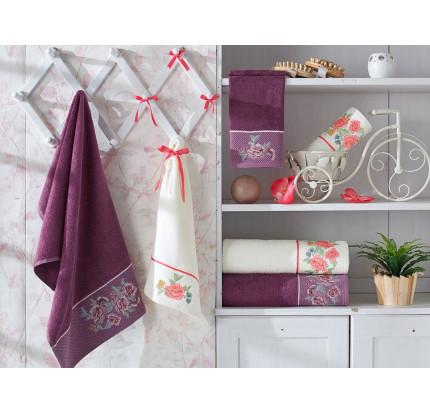Набор полотенец La Villa Blossom (фиолетовый) 3 предмета