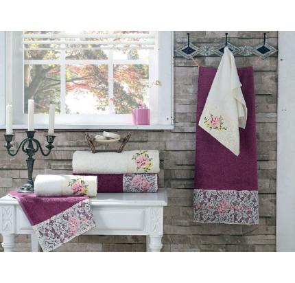 Набор полотенец La Villa Dellana (кремовый) 3 предмета